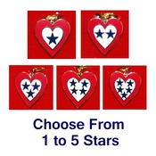 "Service Flag Heart Charm with 18"" Chain"